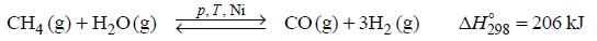 Parowy reforming metanu.
