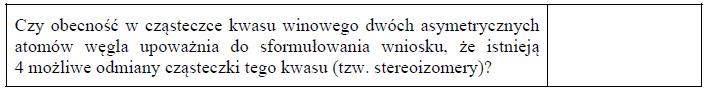 Diasteroizomery kwasu winowego.