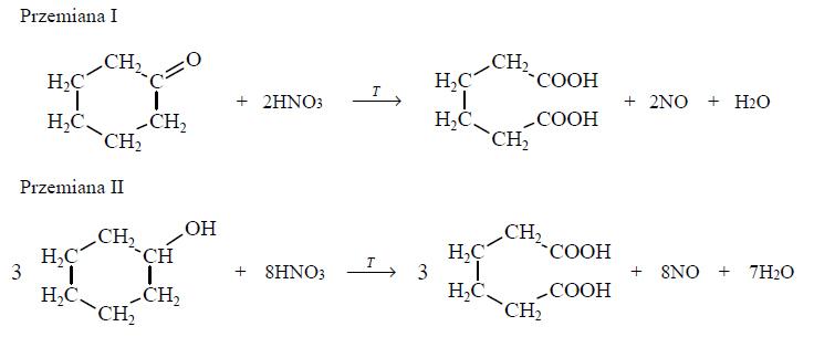 Reakcje kwasu adypinowego.
