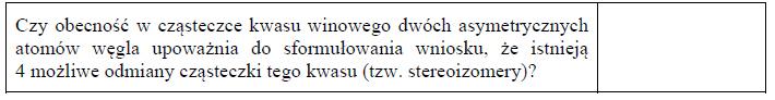 Stereoizomeria w kwasie winowym.
