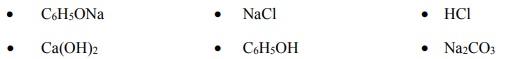 Porówanie charakteru kwasowego fenolu, kwasu węglowego i kwasu chlorowodorowego