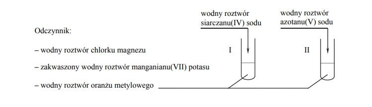 Różnice w przebiegu doświadczenia z udziałem siarczanu(IV) sodu i azotanu(V) sodu.