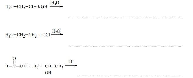 chloroetan w reakcji z zasadą potasową