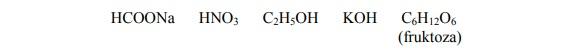 Dysocjacja związków chemicznych.