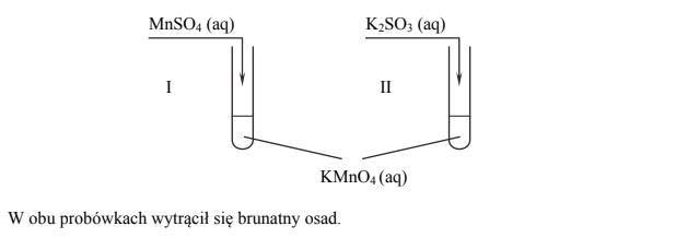 Równania procesu redukcji i procesu utleniania. Siarczan (VI) manganu (II), siarczan (IV) potasu.