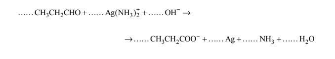 Reakcja utleniania propanalu. Redox.