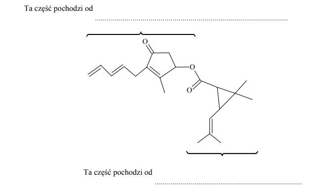 Wzory szkieletowe związków organicznych.