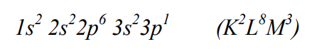 Konfiguracja glinu w stanie podstawowym.