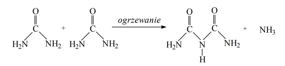 Reakcja kondensacji mocznika.
