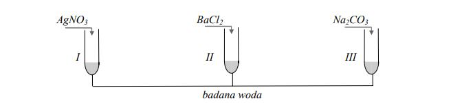Reakcje strąceniowe jonów w wodzie mineralnej.