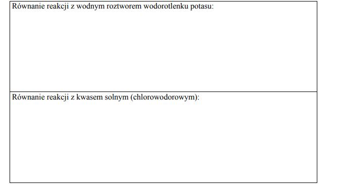 Reakcje waliny z kwasami i zasadami