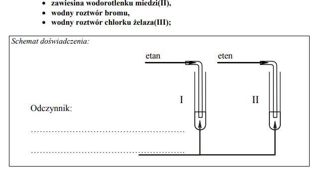 Porównanie właściwości etanu i etenu.