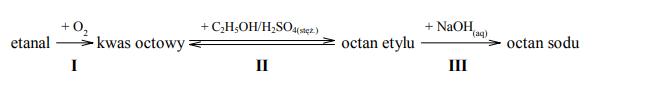 Reakcje etanalu, kwasu octowego