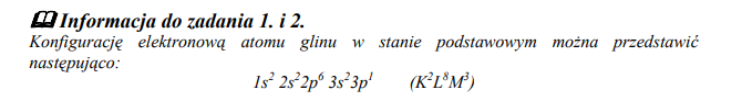 Konfiguracja atomu glinu