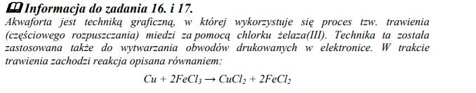 Reakcja miedzi z chlorkiem żelaza(III).