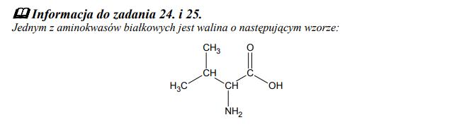 Wzór aminokwasu waliny
