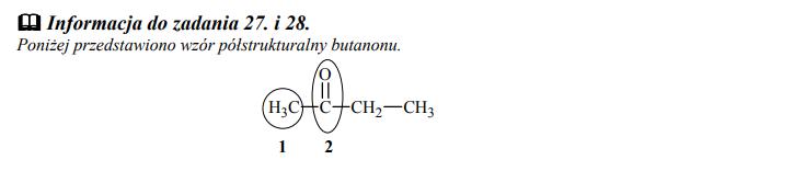 Wzór półstrukturalny butanonu