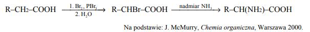 Aminokwasy białkowe są α-aminokwasami, co znaczy, że w ich cząsteczkach jedna para grup funkcyjnych: aminowej i karboksylowej, jest połączona z tym samym atomem węgla.