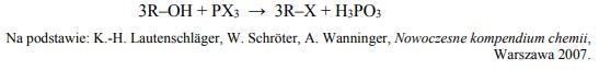 Jedną z metod otrzymywania halogenoalkanów jest reakcja alkoholu alifatycznegoz halogenkiem fosforu(III).