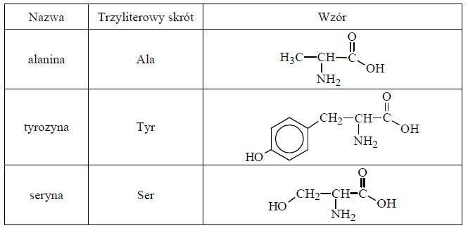 Wzór tripeptydu Ser-Ala-Tyr. Liczba izomerów.