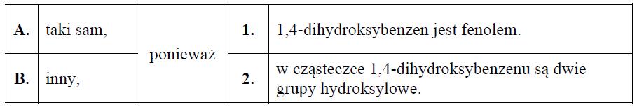 1,4-dihydroksybenzen oraz propano-1,2-diol